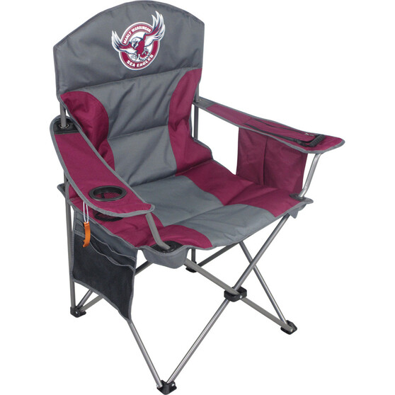 NRL Manly Sea Eagles Camp Chair, , bcf_hi-res