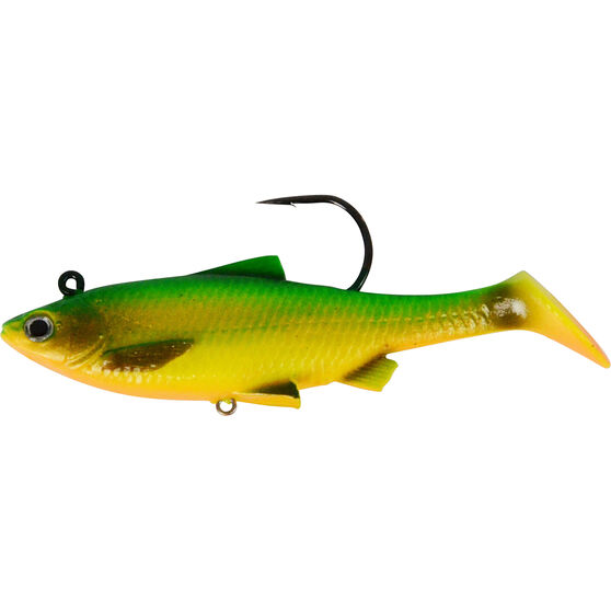 Savage Swim Mullet Soft Plastic Lure 8.5cm Fire Tiger 8.5cm, Fire Tiger, bcf_hi-res
