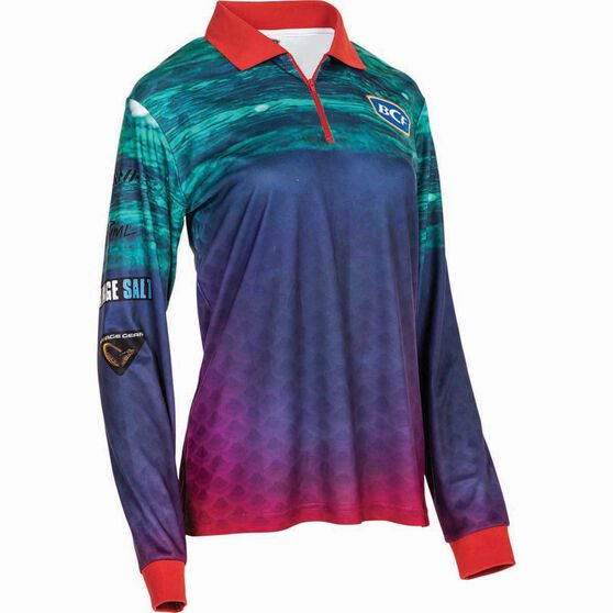 BCF Women's Parrot Sublimated Polo Pink 18, Pink, bcf_hi-res
