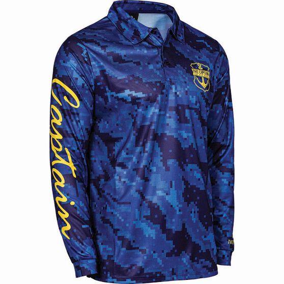 The Mad Hueys Men's Captain Fishing Shirt, Navy, bcf_hi-res
