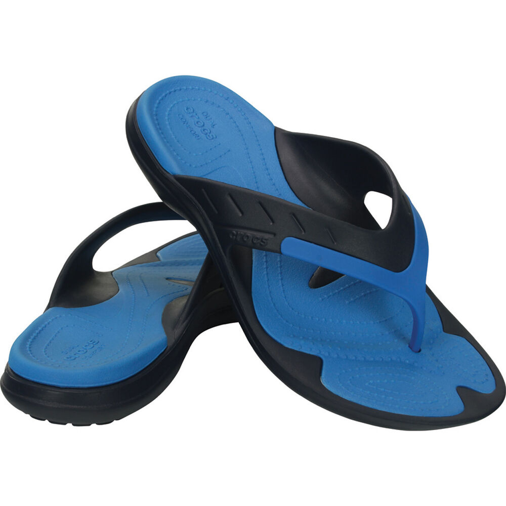 84b72e334 Crocs Men s Modi Sport Thongs Navy   Ocean M12