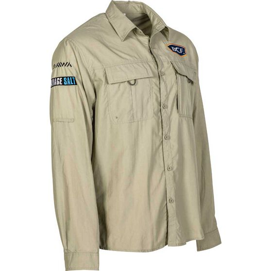BCF Men's Long Sleeve Fishing Shirt Silt 2XL, Silt, bcf_hi-res