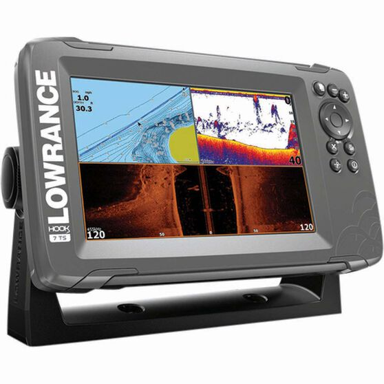 Lowrance Hook²-7 Fish Finder Combo + TripleShot Transducer and CMAP, , bcf_hi-res