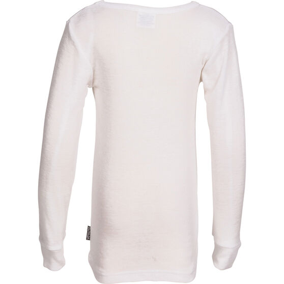 OUTRAK Kids' Polypro Long Sleeve Top White S, White, bcf_hi-res