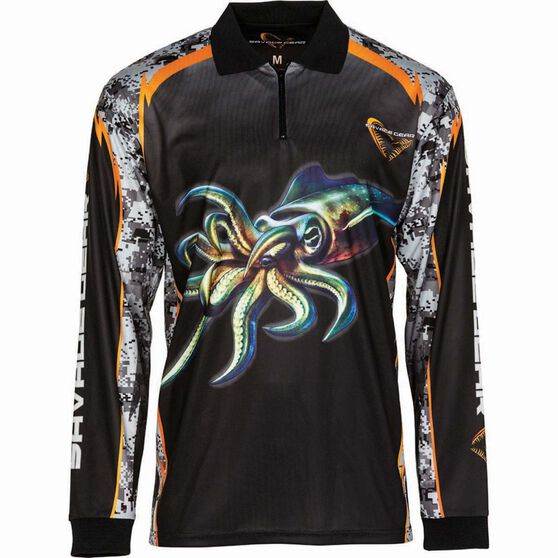 Savage Men's Squid Sublimated Polo Black S, Black, bcf_hi-res