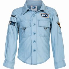 BCF Kids' Long Sleeve Fishing Shirt Spray 8, Spray, bcf_hi-res