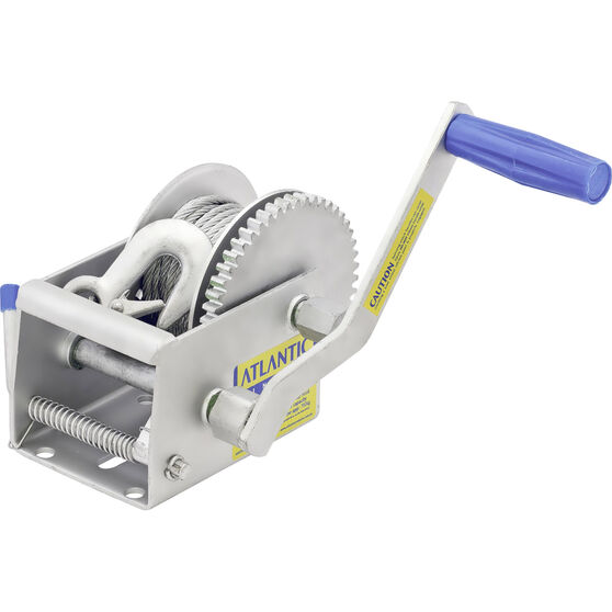 Atlantic Two Speed Trailer Winch with Cable, , bcf_hi-res