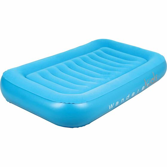 Wanderer Kids' Air Bed Single Blue, Blue, bcf_hi-res