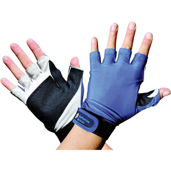 Sunprotection Australia Unisex Sports 50+ Gloves Blue S, Blue, bcf_hi-res