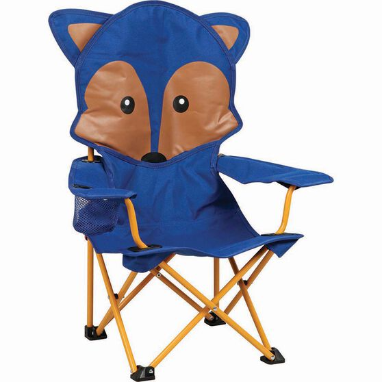 Kids' Animal Camp Chair Blue Fox, Blue Fox, bcf_hi-res