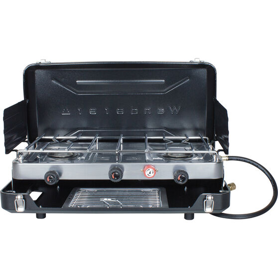 Wanderer LPG Portable Stove with Grill 2 Burner, , bcf_hi-res