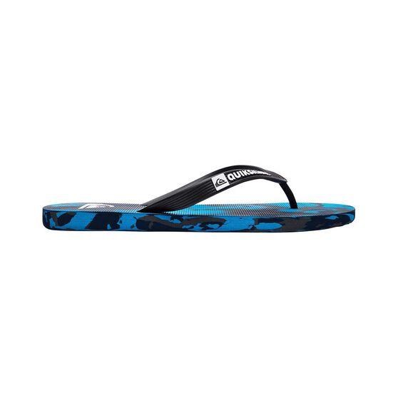 Quiksilver Waterman Men's Monkey Marled Thongs, Black / Blue, bcf_hi-res
