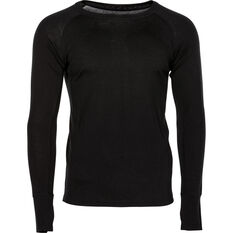 OUTRAK Men's Merino Long Sleeve Top Black S, Black, bcf_hi-res