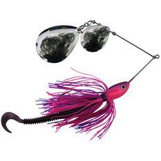 Bidgee Bait Spinner Bait Lure 1oz Pink / Purple, Pink / Purple, bcf_hi-res