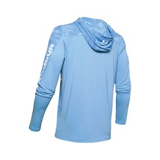 Under Armour Men's Isochill Shorebreak Camo Sublimated Hoodie Blue / White M, Blue / White, bcf_hi-res