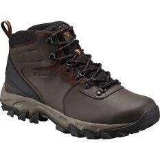 Columbia Men's Newton Ridge Plus II Waterproof Hiking Boots Cordovan / Squash 8, , bcf_hi-res