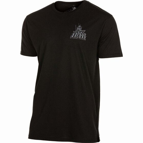 The Mad Hueys Men's Offshore UV Tee Black 2XL, Black, bcf_hi-res
