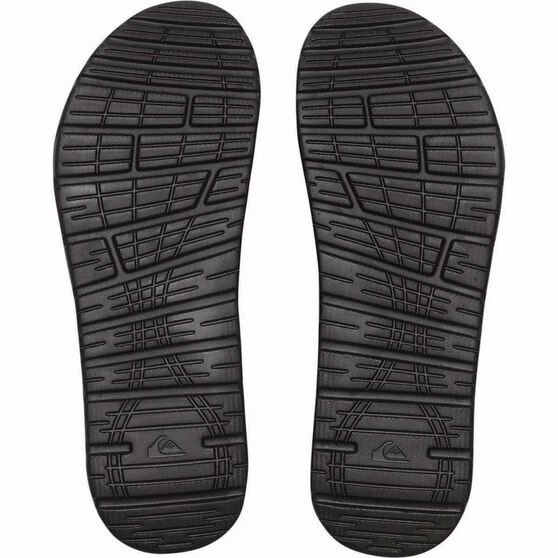Quiksilver Men's Shoreline Adjust Thongs, Black, bcf_hi-res