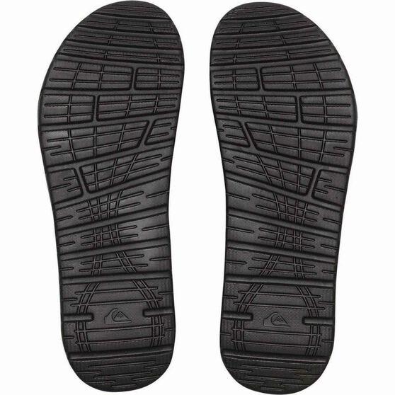 Quiksilver Men's Shoreline Adjust Thongs, Black / White, bcf_hi-res