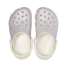 Crocs Classic Kids' Glitter Clogs, Oyster, bcf_hi-res