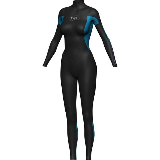 Crystal Women's Steamer Wetsuit 3 / 2mm, Blue / Black, bcf_hi-res