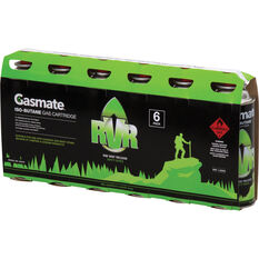 Gasmate Butane RVS Gas Canisters 220g 6 Pack, , bcf_hi-res