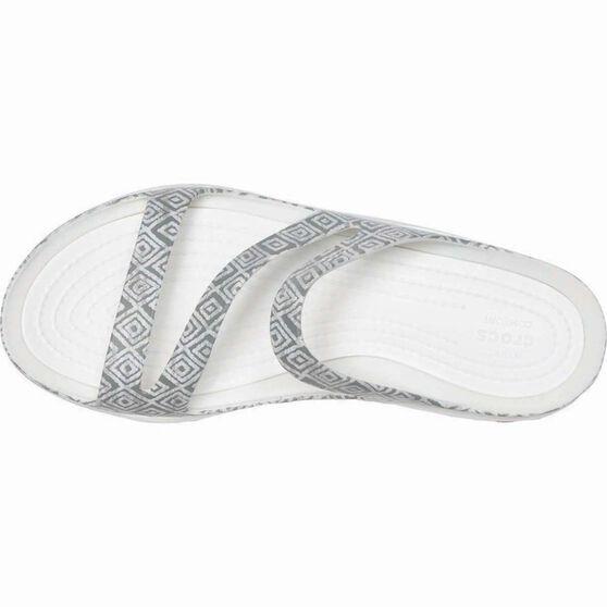 Crocs Women's Graphic Swiftwater Sandal Grey Diamond/White 9, , bcf_hi-res