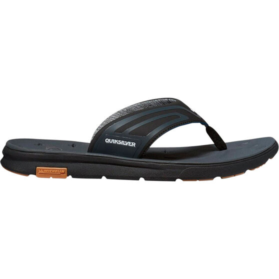 Quiksilver Men's Amphibian Plus Sandals Black / Grey 8, Black / Grey, bcf_hi-res