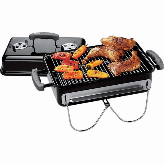OZTRAIL GOURMET CHARCOAL GRILL WITH ROASTING LID
