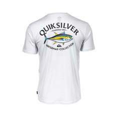 Quiksilver Waterman Men's Dreamer Wake Tee, White, bcf_hi-res