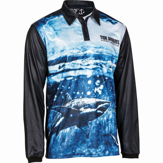 Tide Apparel Men's Storm V2 Fishing Jersey, Pattern, bcf_hi-res
