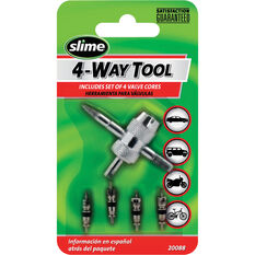 Slime 4-Way Valve Tool with Cores - 5 Piece, , bcf_hi-res