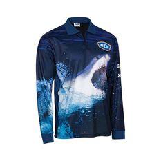BCF Men's Shark Sublimated Polo, Navy, bcf_hi-res