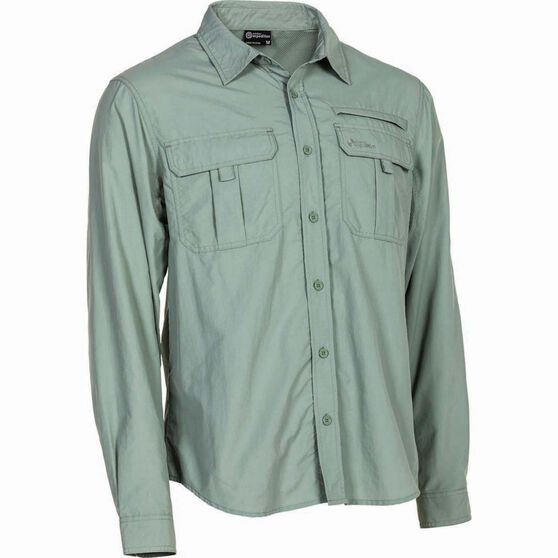 Outdoor Expedition Men's Vented Long Sleeve Shirt Iron 5XL, Iron, bcf_hi-res