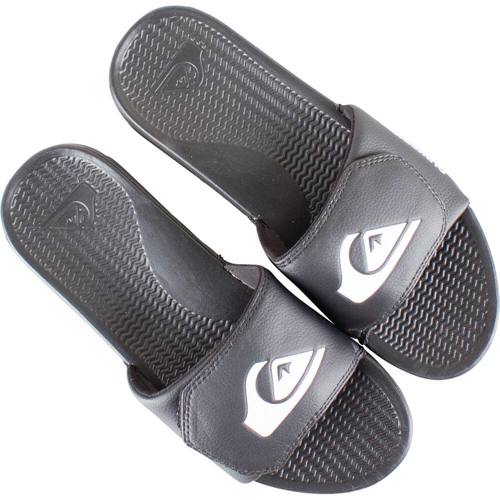 6d175e87c78 Quiksilver Men s Shoreline Adjust Slides Black   White 8