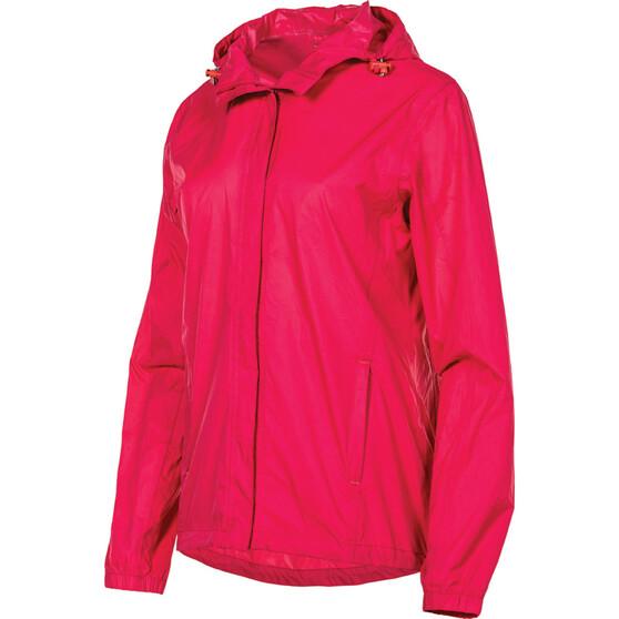 OUTRAK Women's Packaway Rain Jacket, Pink, bcf_hi-res