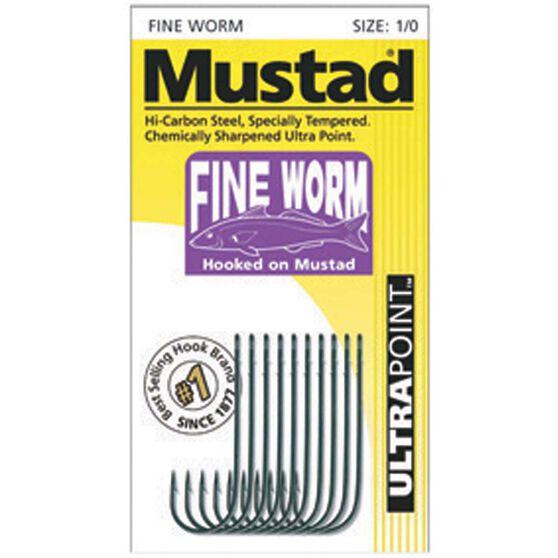 Mustad Fine Worm Hooks, , bcf_hi-res