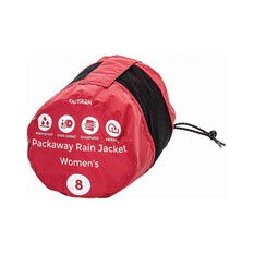 OUTRAK Women's Packaway Rain Jacket, Deep Claret, bcf_hi-res