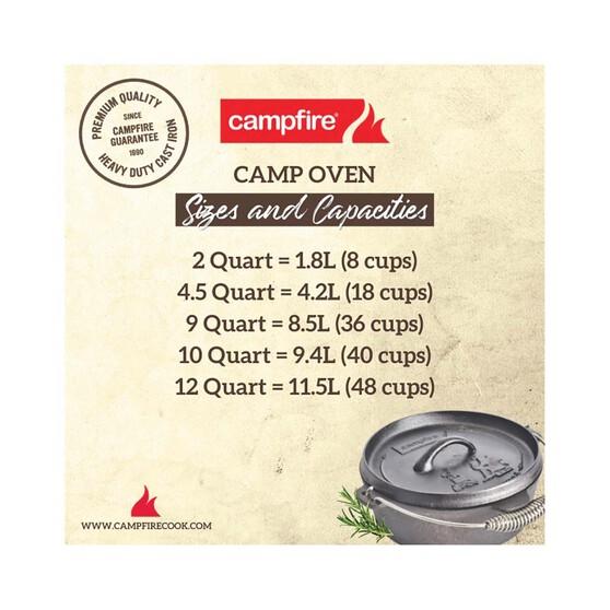 Campfire Pre Seasoned Cast Iron Camp Oven 10 Quart, , bcf_hi-res
