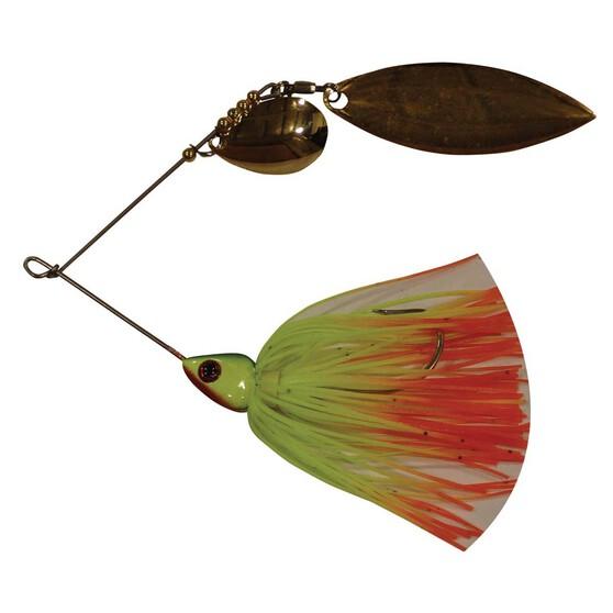 Tackle Tactics Striker Spinner Bait Lure 3 / 8oz Chartreuse Fire Tail, Chartreuse Fire Tail, bcf_hi-res