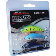 JJS Lures StumpJumper Trout and Little Natives Value Pack 55mm, , bcf_hi-res