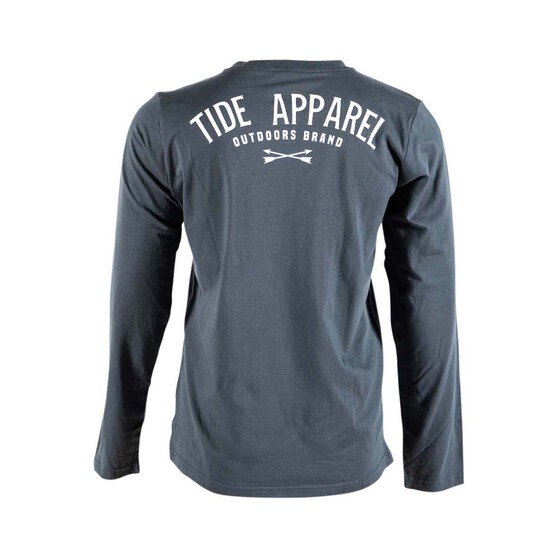 Tide Apparel Womens Outbush Long Sleeve Tee, Charcoal, bcf_hi-res