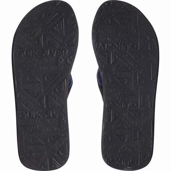 Quiksilver Men's Molokai Layback Thongs, Black / Grey, bcf_hi-res