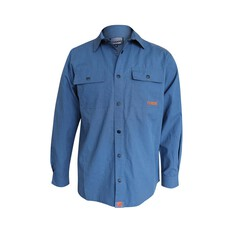 Tradie Men's Ripstop Fishing Shirt Steel Grey S, Steel Grey, bcf_hi-res