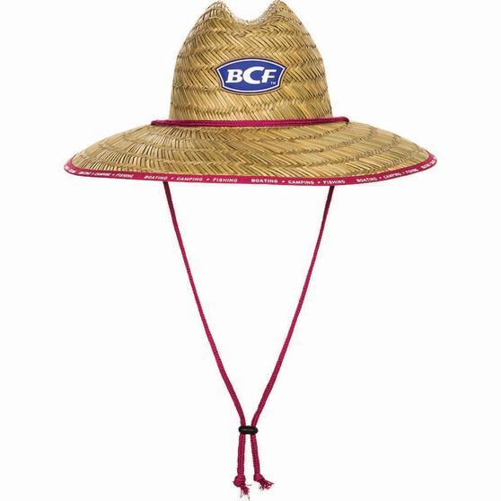 BCF Straw Hat Pink 52cm, Pink, bcf_hi-res