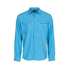 Savage Men's Long Sleeve Fishing Shirt Blue S, Blue, bcf_hi-res