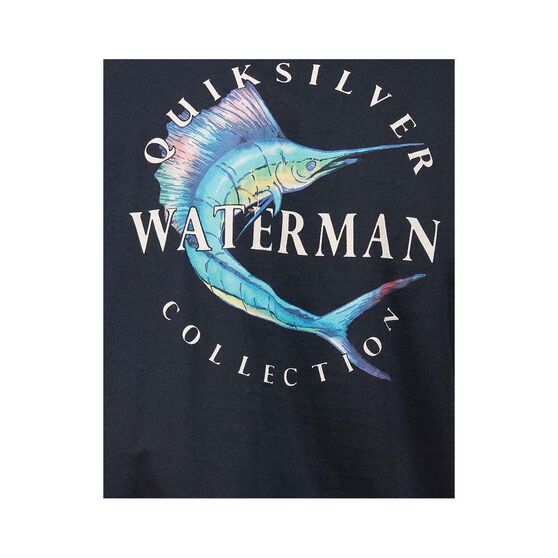 Quiksilver Waterman Men's Reel Stoke Tee, Black, bcf_hi-res