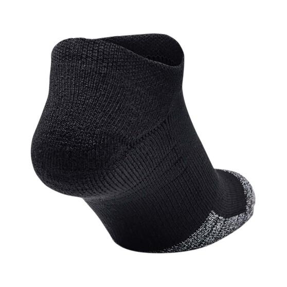 Under Armour Men's HeatGear No Show Socks 3 Pack, Black, bcf_hi-res