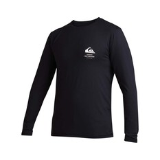 Quiksilver Waterman Men's Green Room Long Sleeve Rash Vest Black M, Black, bcf_hi-res