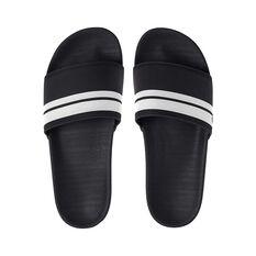 Quiksilver Men's Waterman Rivi Slide Black / White 8, Black / White, bcf_hi-res
